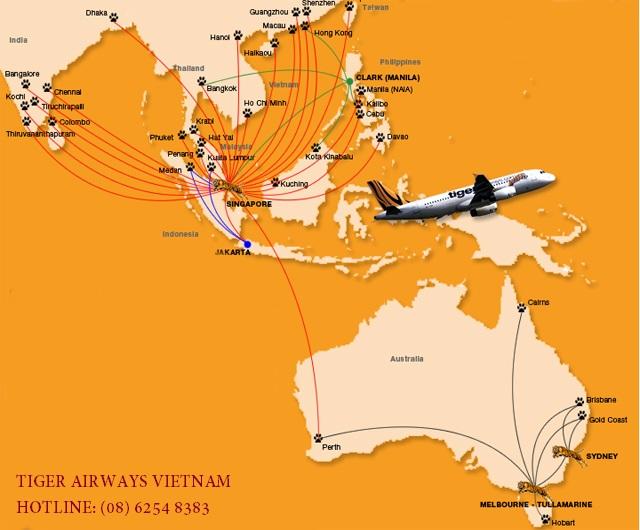 Vé máy bay Tiger Airways bao nhiêu?